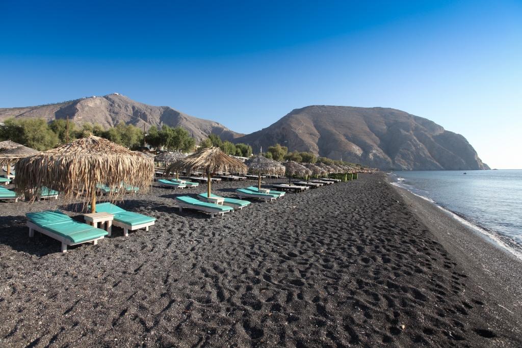 spiagge nere italia europa spiaggia di santorini