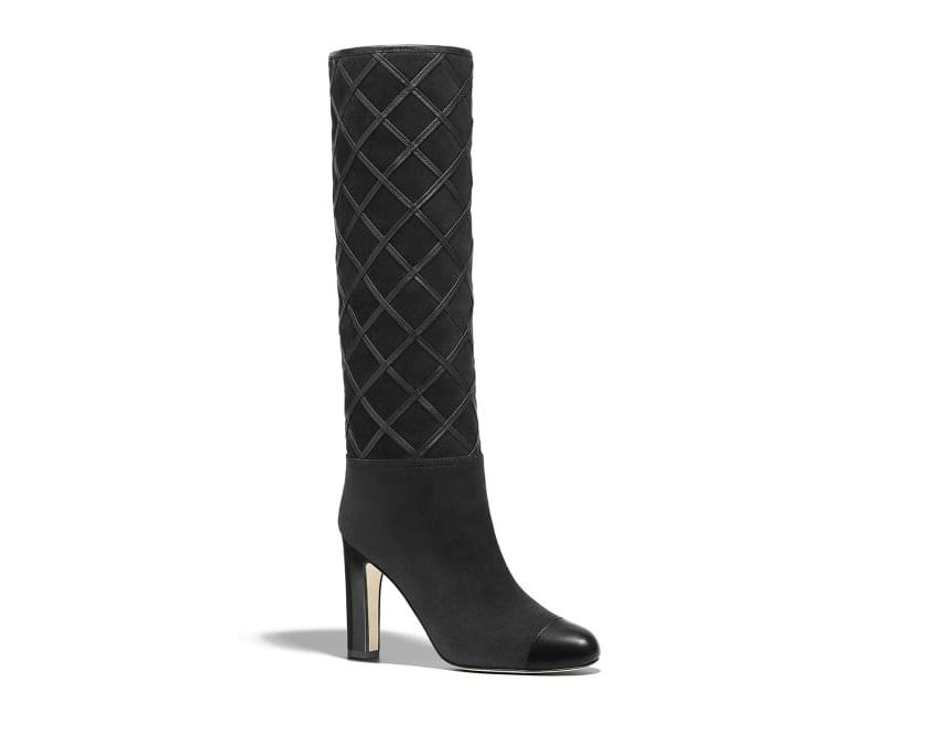 Stivali con tacco Chanel a 1500 euro. Collezioni come quella di scarpe ... dc1fbe9365f