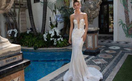 Abiti da sposa Berta, trasparenze audaci e dettagli gioiello per la nuova collezione 2019 [FOTO]