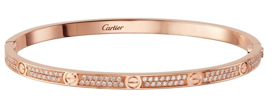 Bracciale Cartier in oro rosa gioielil autunno inverno 2018 2019