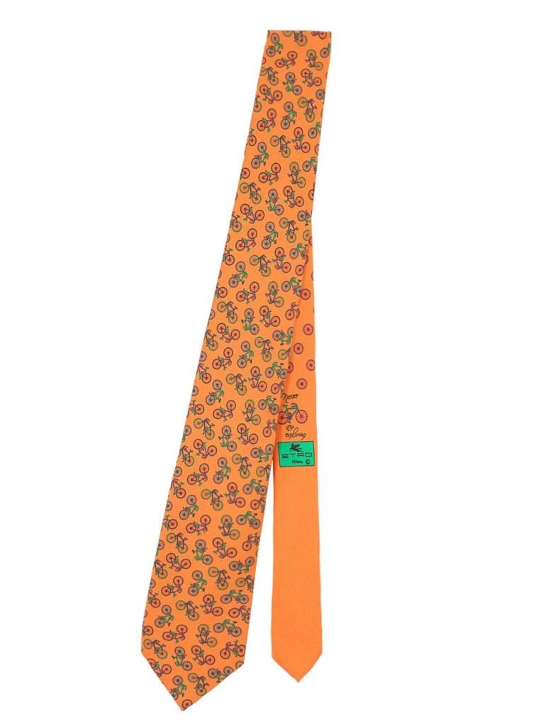 Cravatta Etro particolare con stampa biciclette cravatte uomo 2018-2019