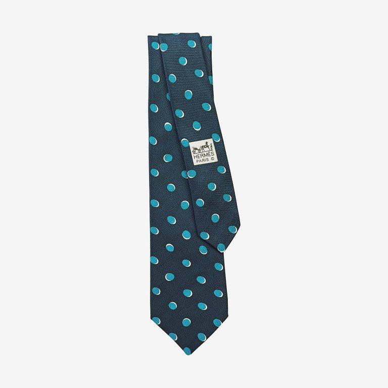 Cravatta Hermes in seta a pois cravatte uomo autunno inverno 2018 2019