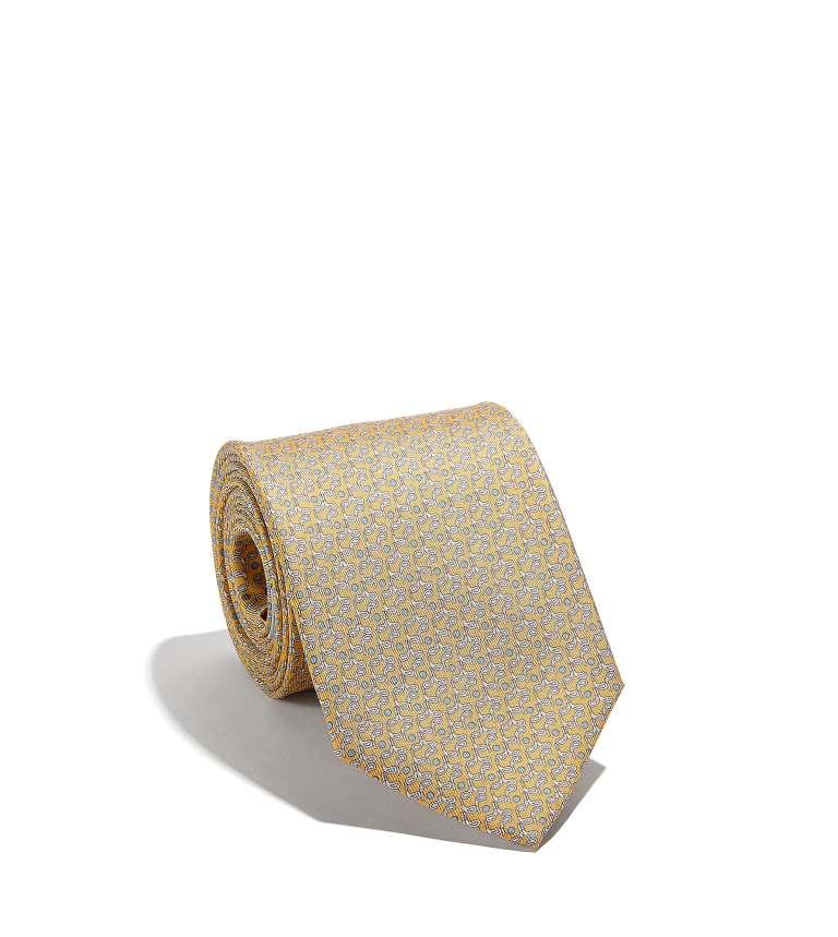 Cravatta Salvatore Ferragamo con stampa mazze da golf