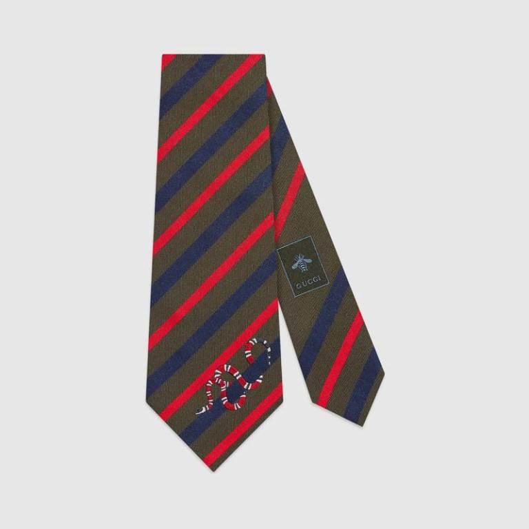 Cravatta uomo regimental a righe Gucci cravatte uomo 2018-2019