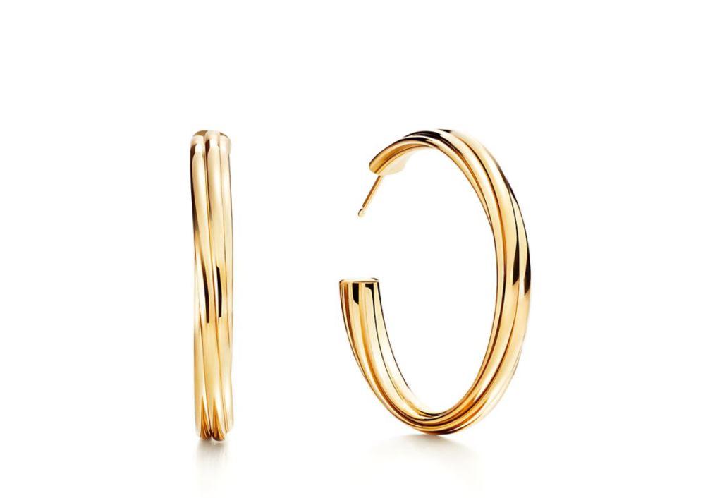 Orecchini a cerchio in oro Tiffany 2018 2019
