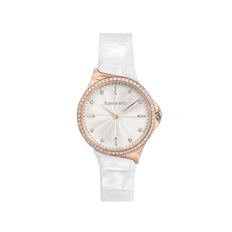 Orologio Tiffany in oro rosa con diamanti orologi donna autunno inverno 2018 2019