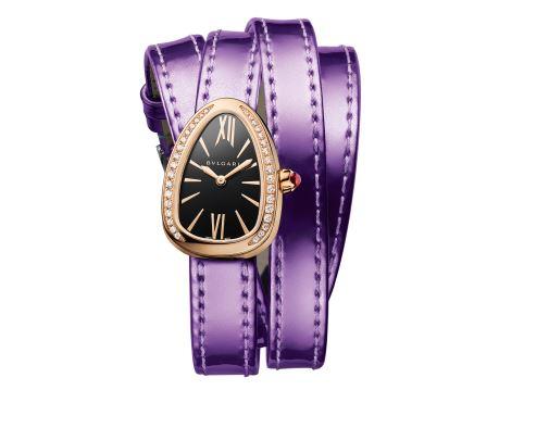 Orologio a bracciale Bulgari Serpenti in oro rosa 18 carati con diamanti orologi autunno inverno 2018 2019