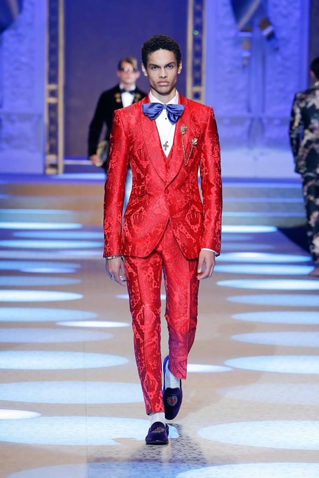 Abito da cerimonia rosso Dolce & Gabbana
