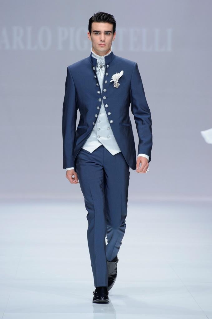 Abito uomo elegante Carlo Pignatelli blu