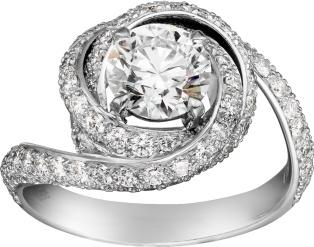 Anello di fidanzamento Cartier in platino con diamante
