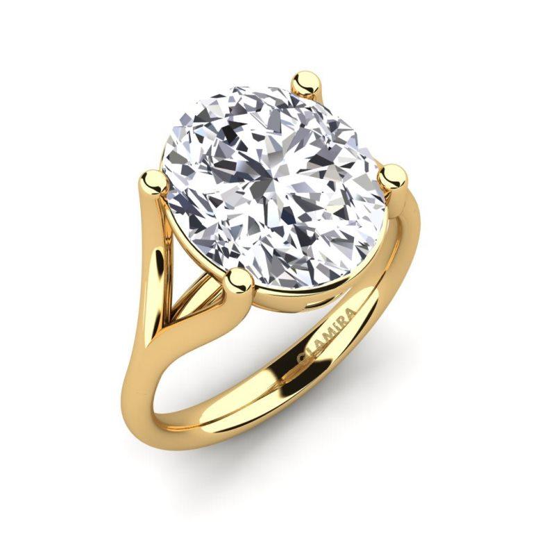 Anello di fidanzamento in oro giallo con diamante da 4,5 carati Glamira a 82575 euro