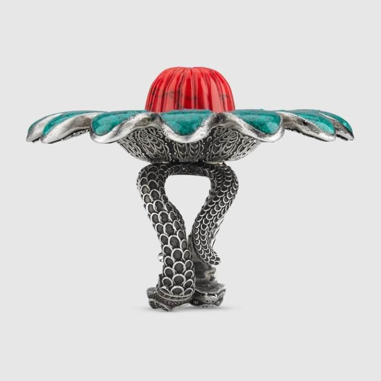Anello in argento particolare Gucci autunno inverno 2018 2019