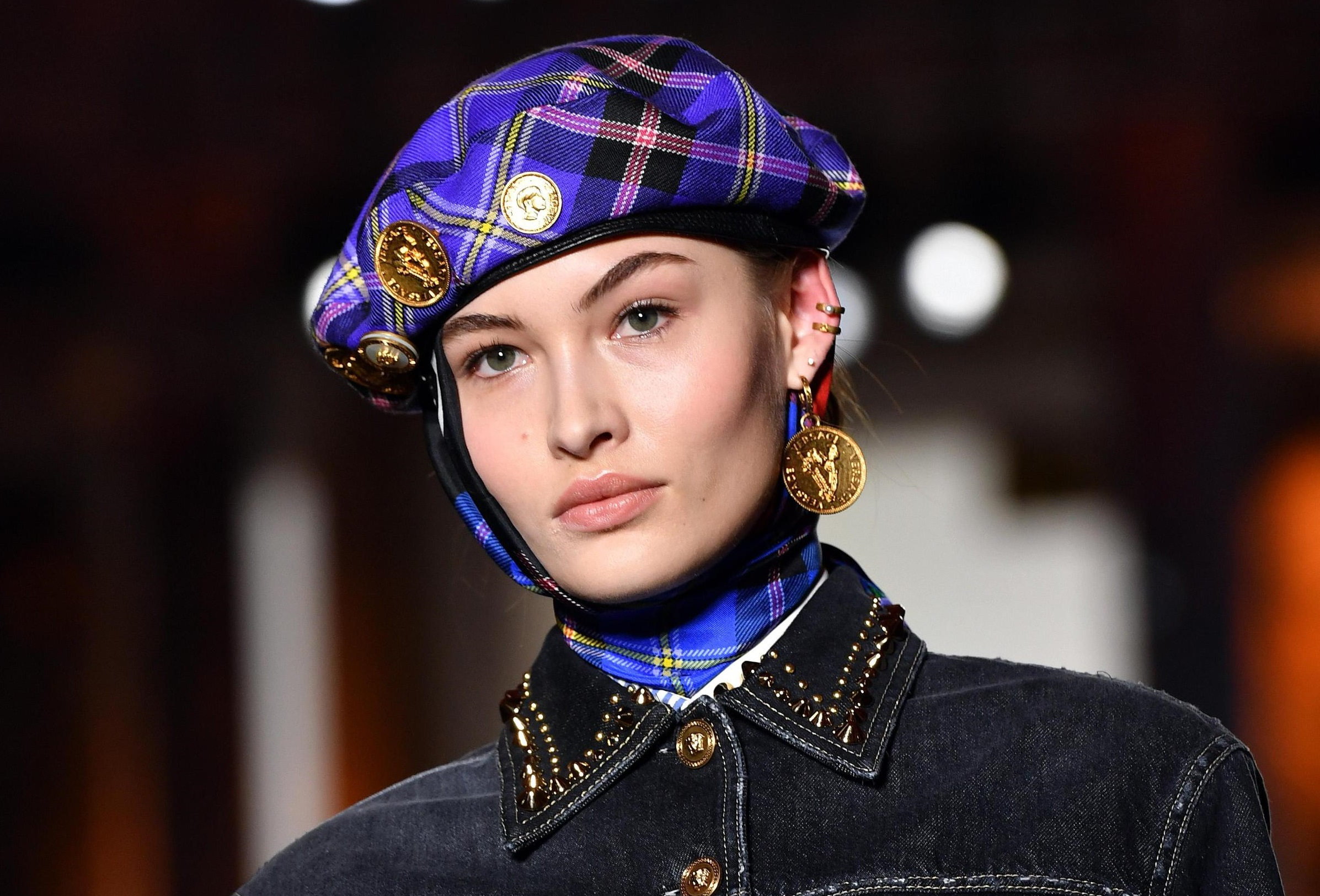 Cappello basco da donna Versace
