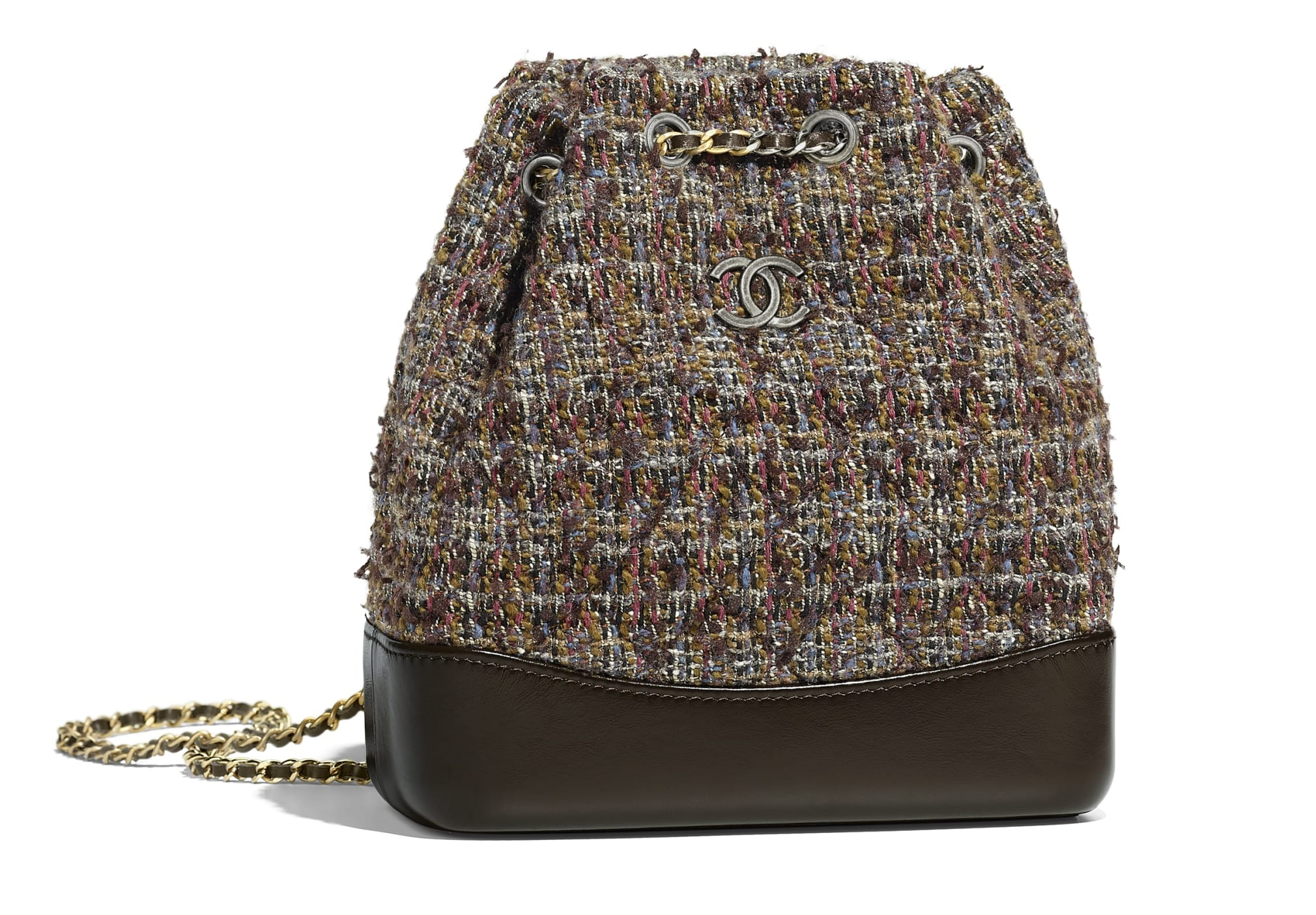 Borsa a secchiello Chanel in tweed autunno inverno 2018 2019