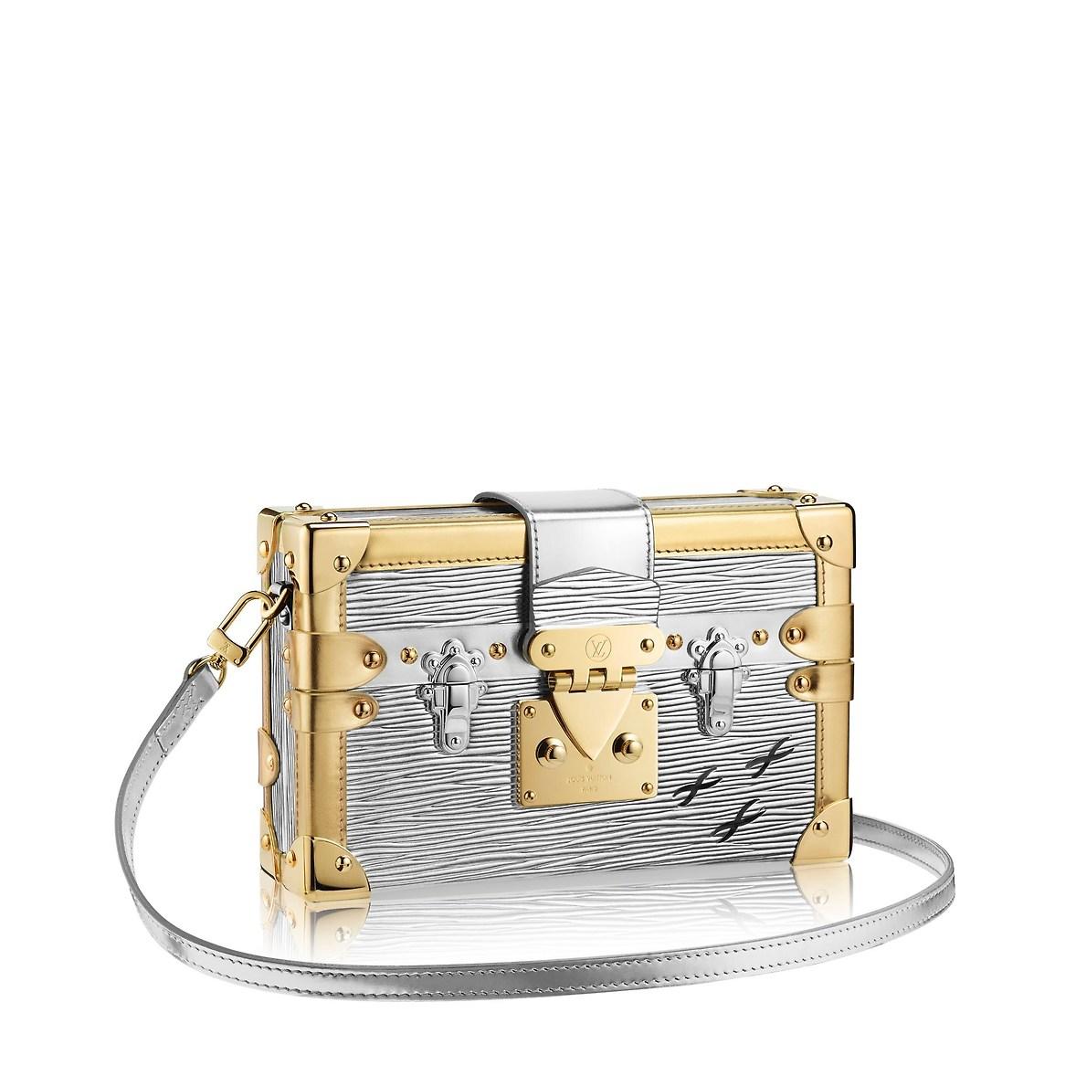 Borsa elegante argento e oro Louis Vuitton a spalla inverno 2019