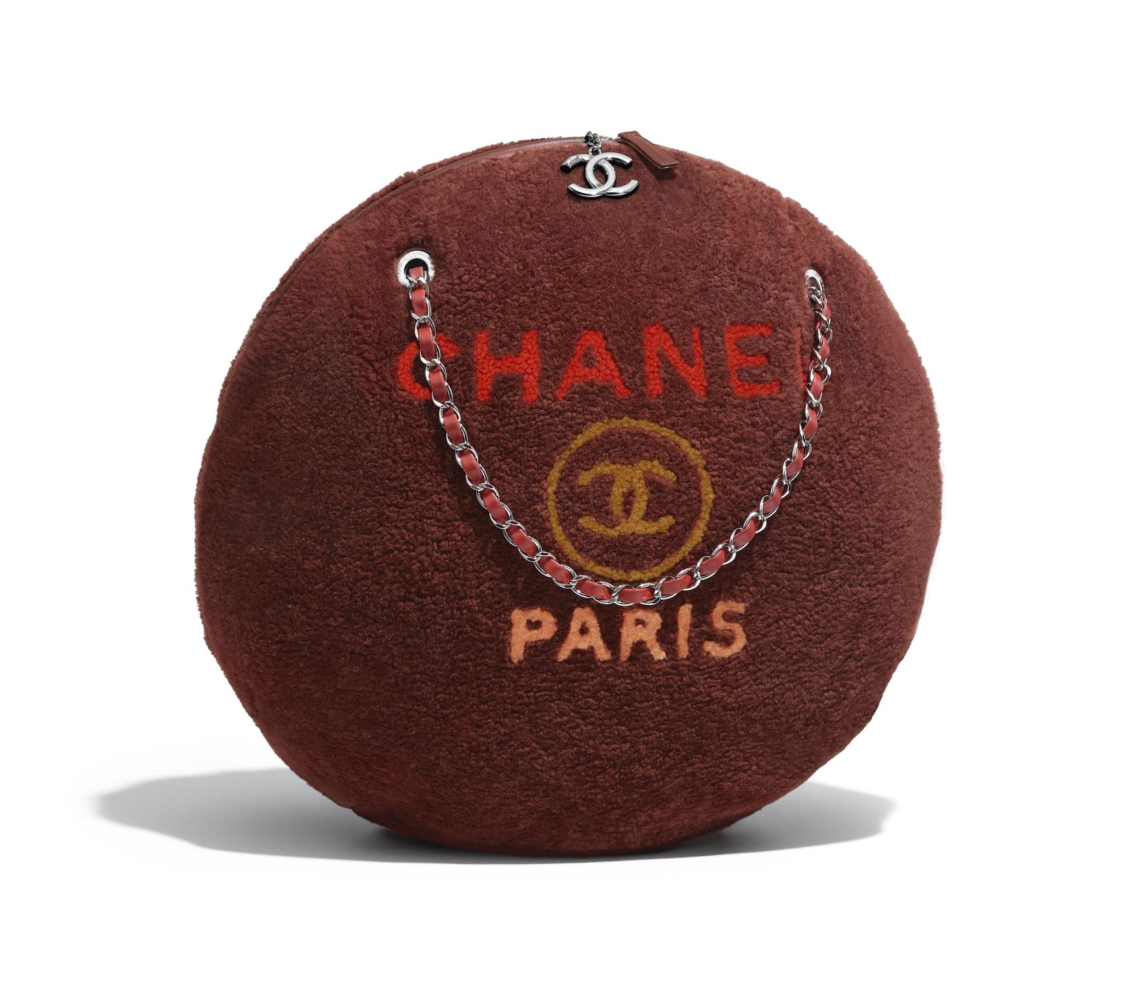 Borsa tonda Chanel in montone e pelle autunno inverno 2018 2019