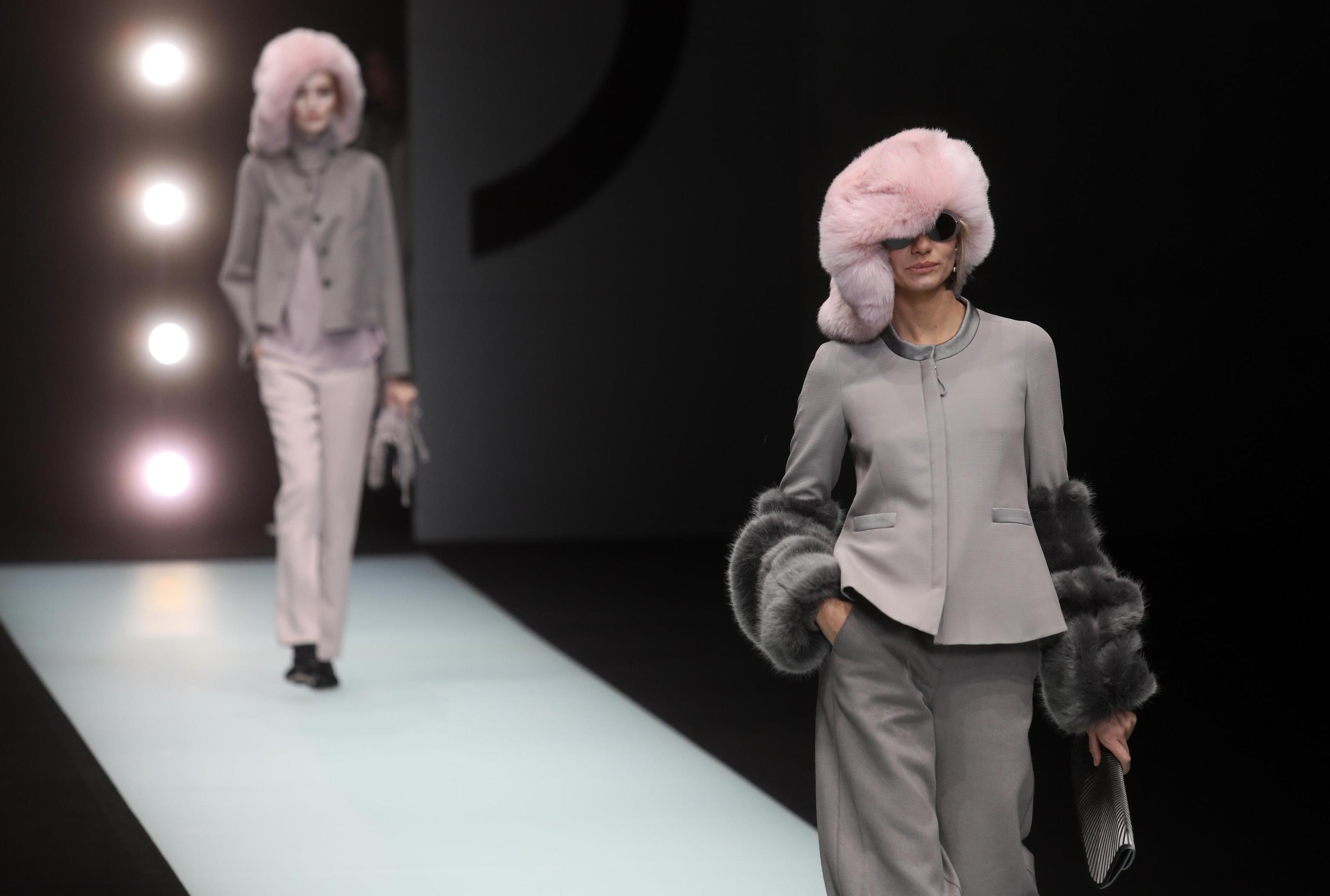 Cappelli in pelliccia Giorgio Armani