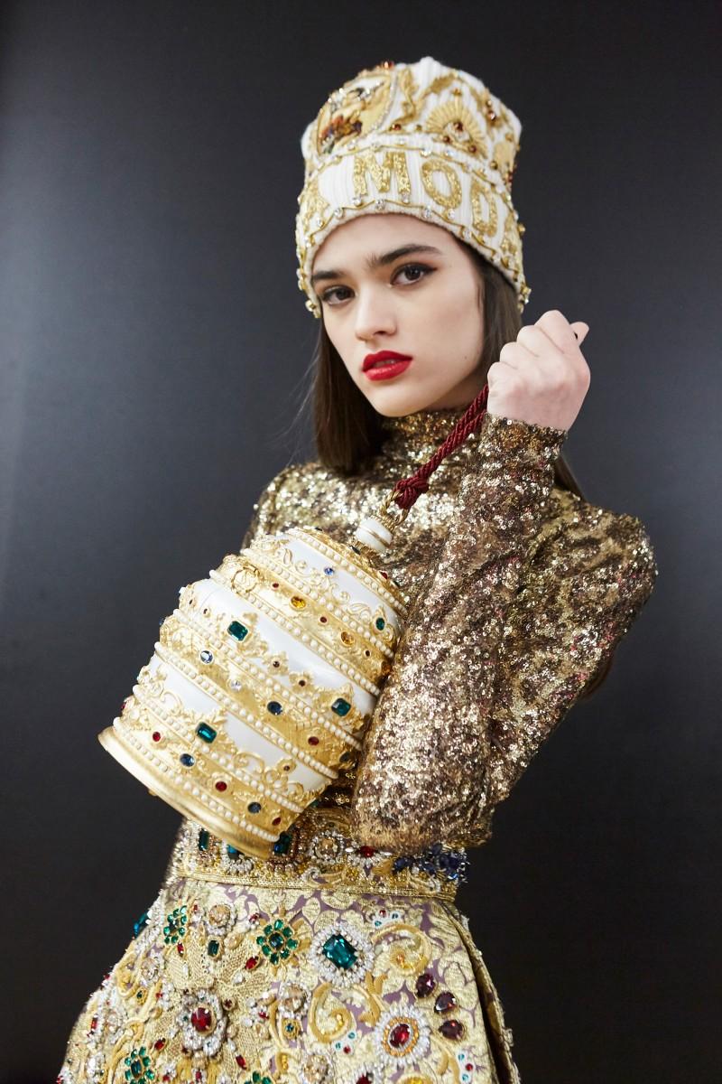 Cappello di lana con logo e applicazioni Dolce & Gabbana