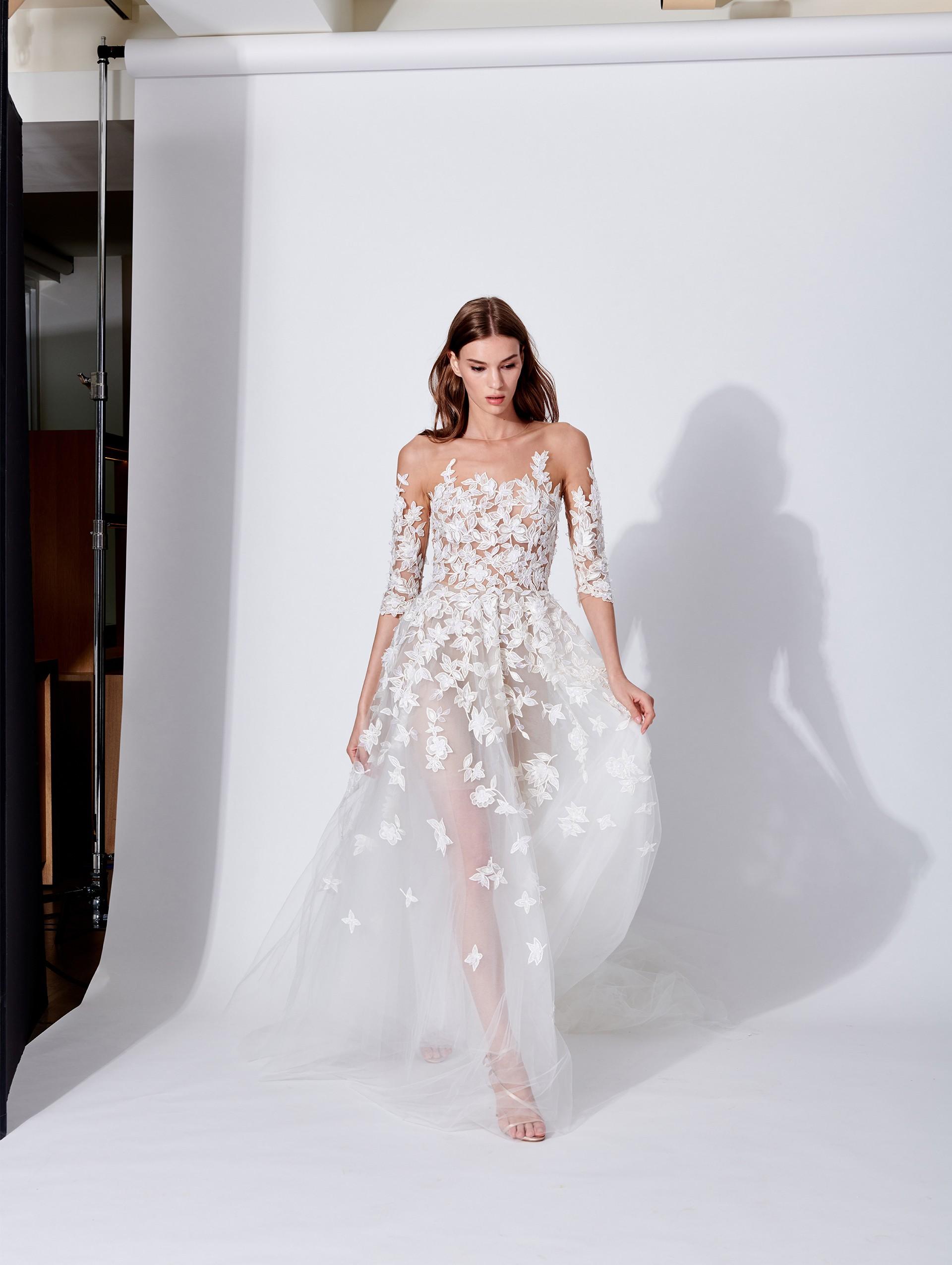 Abito da sposa in tulle Oscar De La Renta collezione 2019