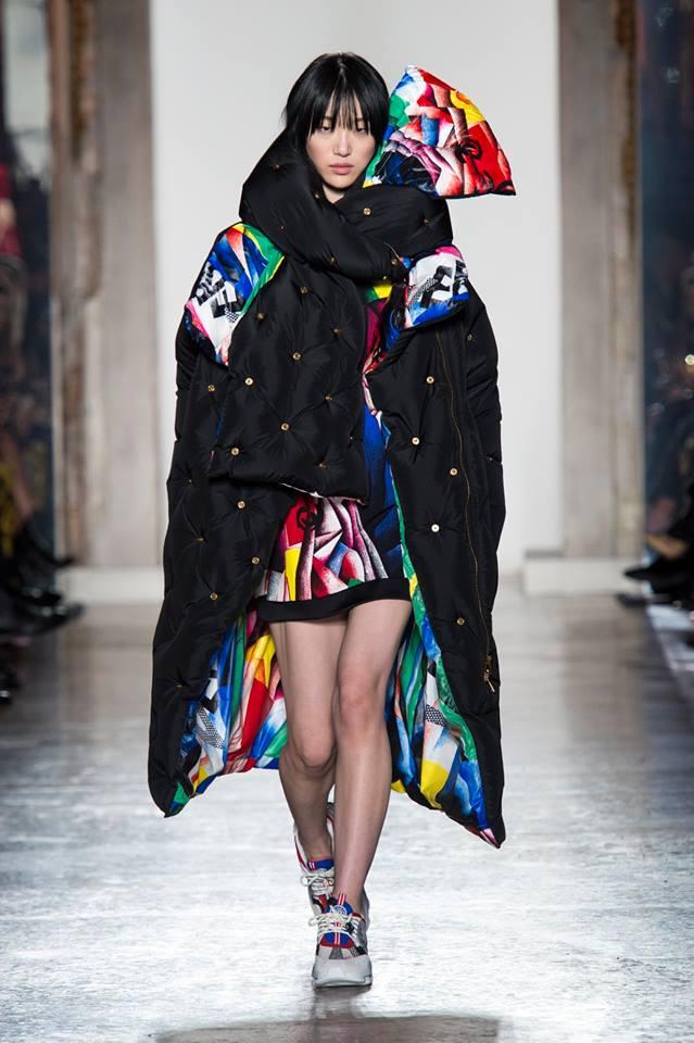 Piumino lungo oversize Versace