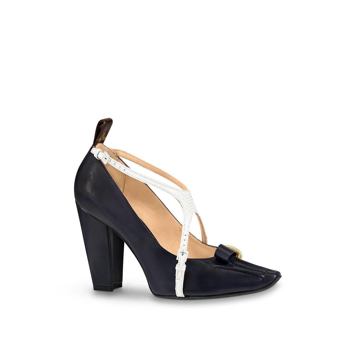 Scarpe con tacco Louis Vuitton al prezzo di 1150 euro autunno inverno 2018 2019