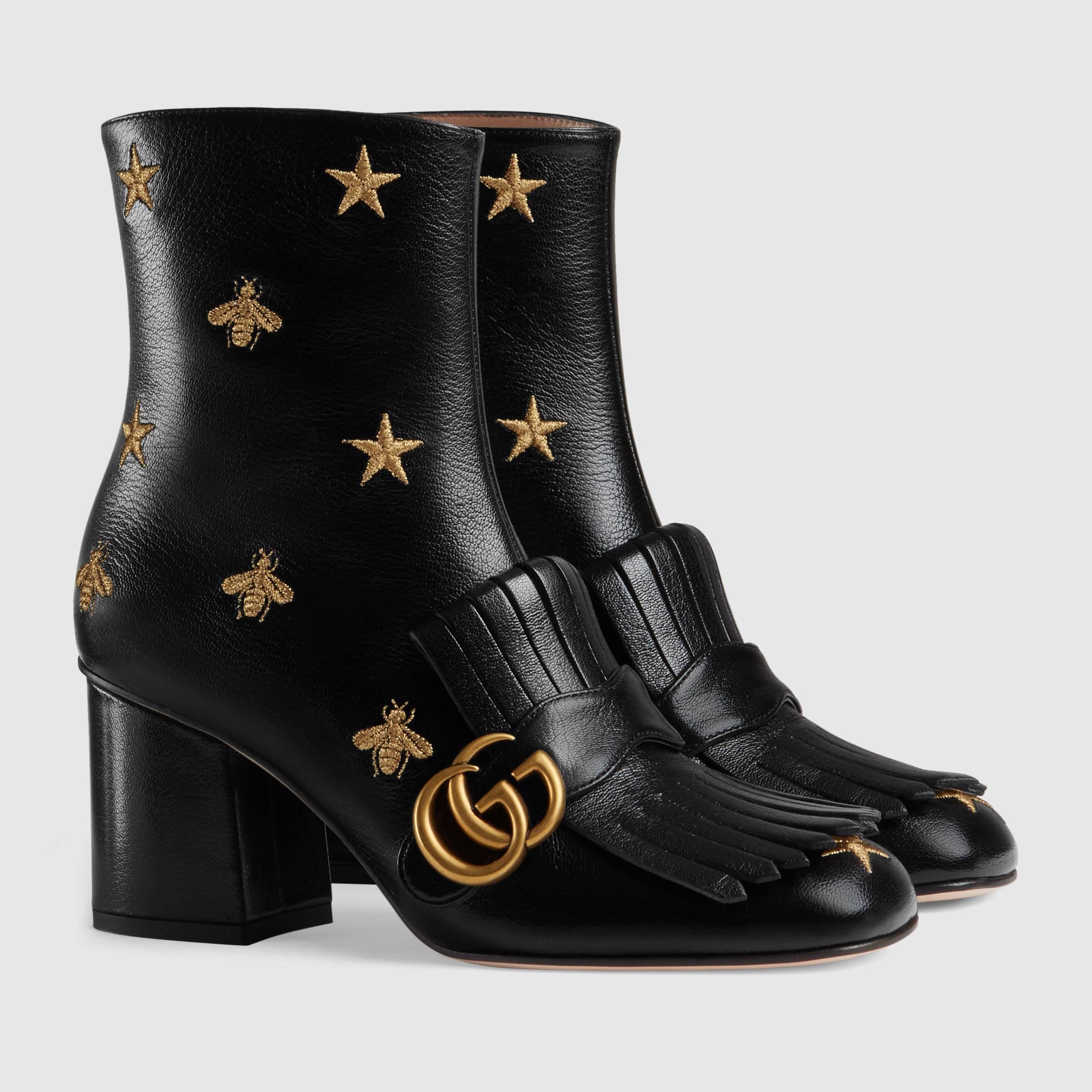 Stivaletti anni '70 Gucci a 980 euro autunno inverno 2018 2019