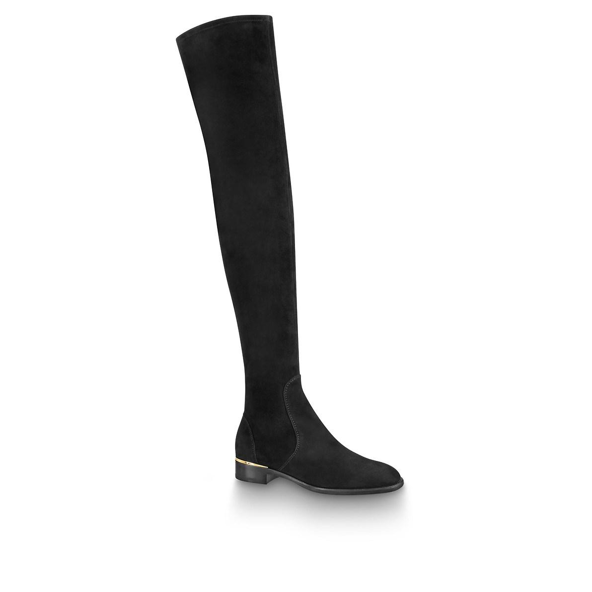 Stivali cuissard sopra il ginocchio Louis Vuitton a 1350 euro autunno inverno 2018 2019