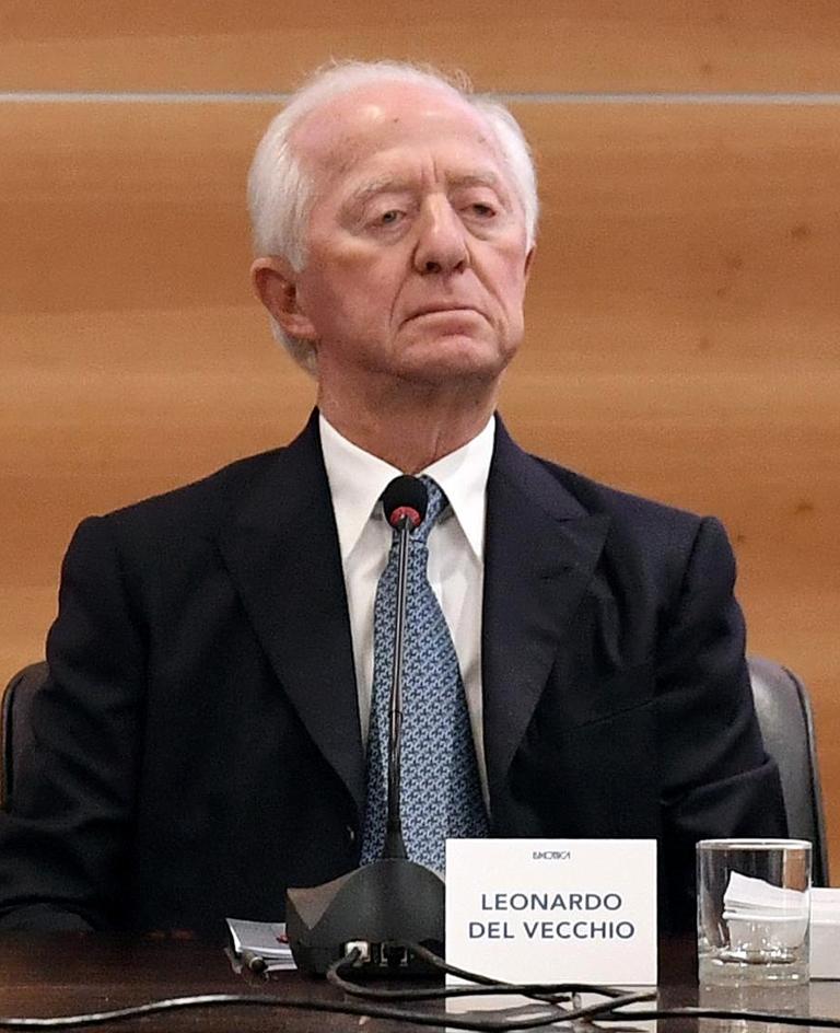 Leonardo Del Vecchio italiani più ricchi 2018
