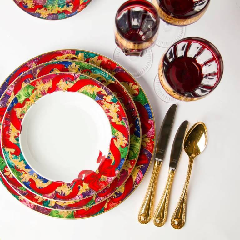 Set di piatti Versace regali di lusso per la casa