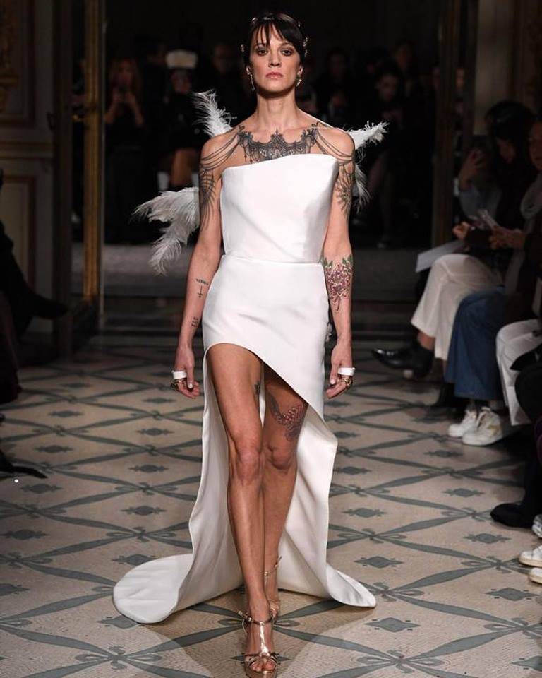 Abito da sposa Antonio Grimaldi indossato da Asia Argento