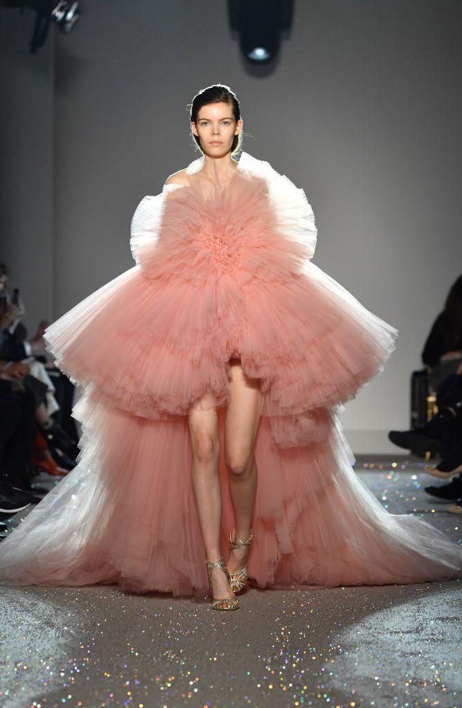 Abito rosa in tulle Giambattista Valli