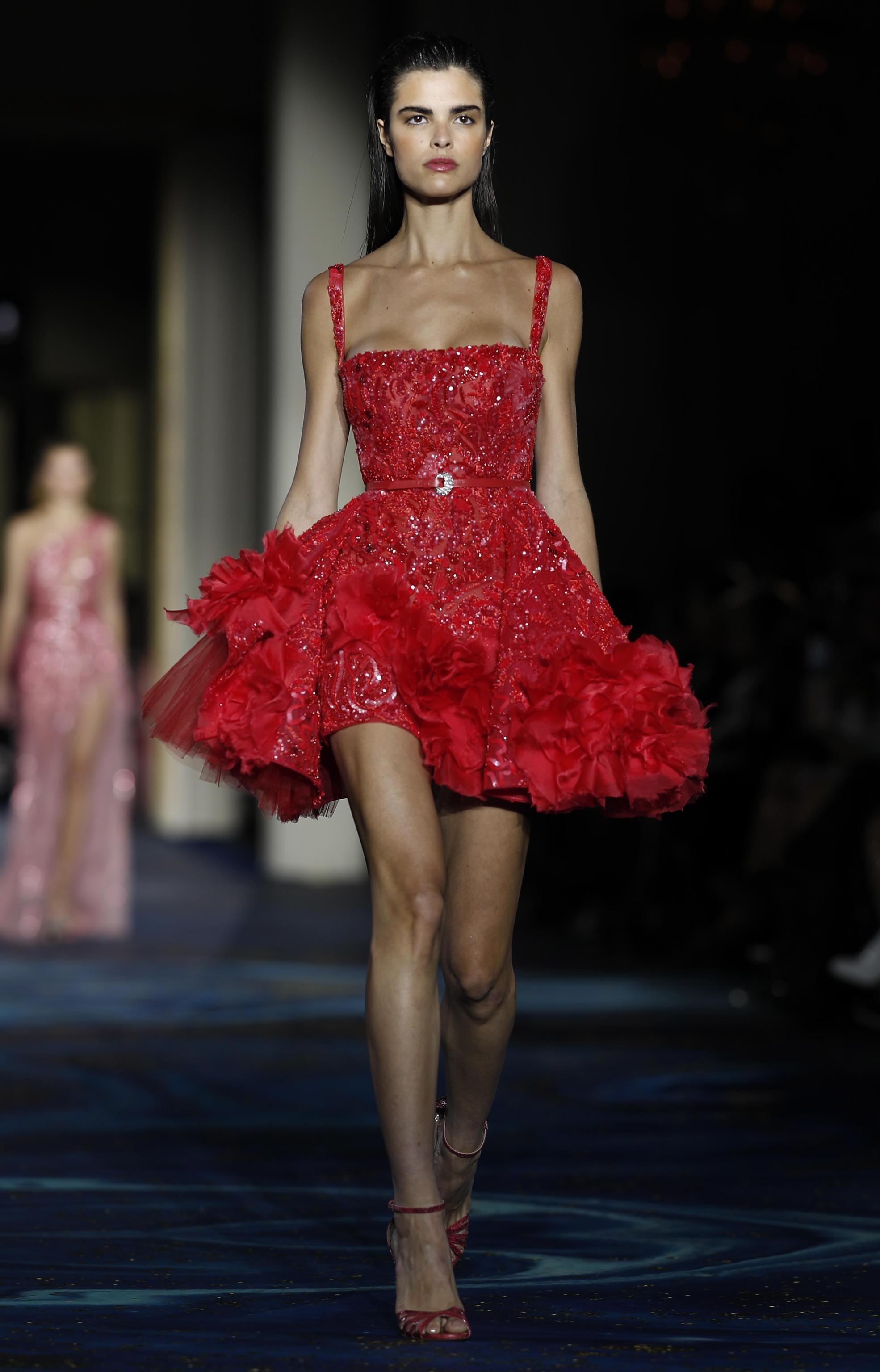 Abito rosso corto Zuhair Murad Couture