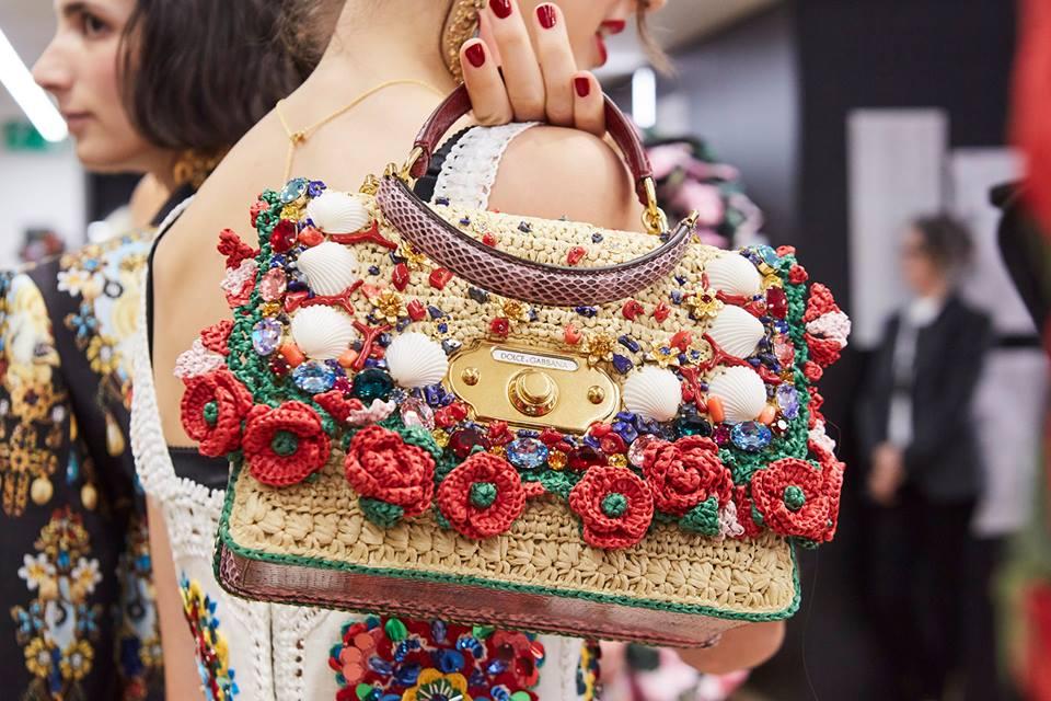 Borsa a mano decorata Dolce & Gabbana