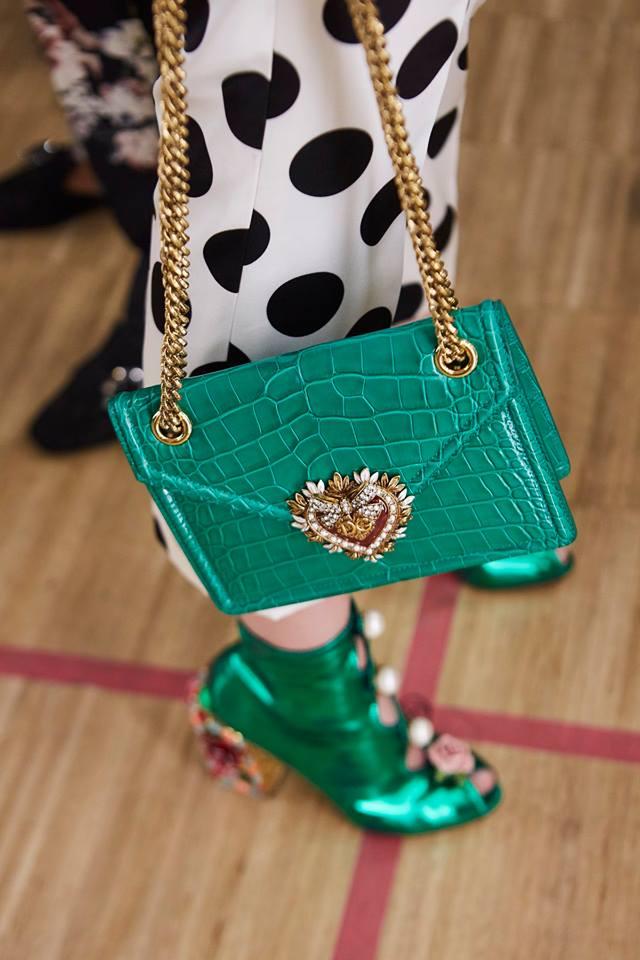 Borsa a tracolla verde smeraldo Dolce & Gabbana