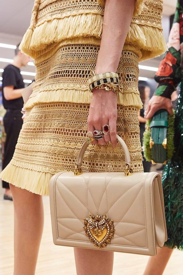 Borsa da sera Dolce & Gabbana panna