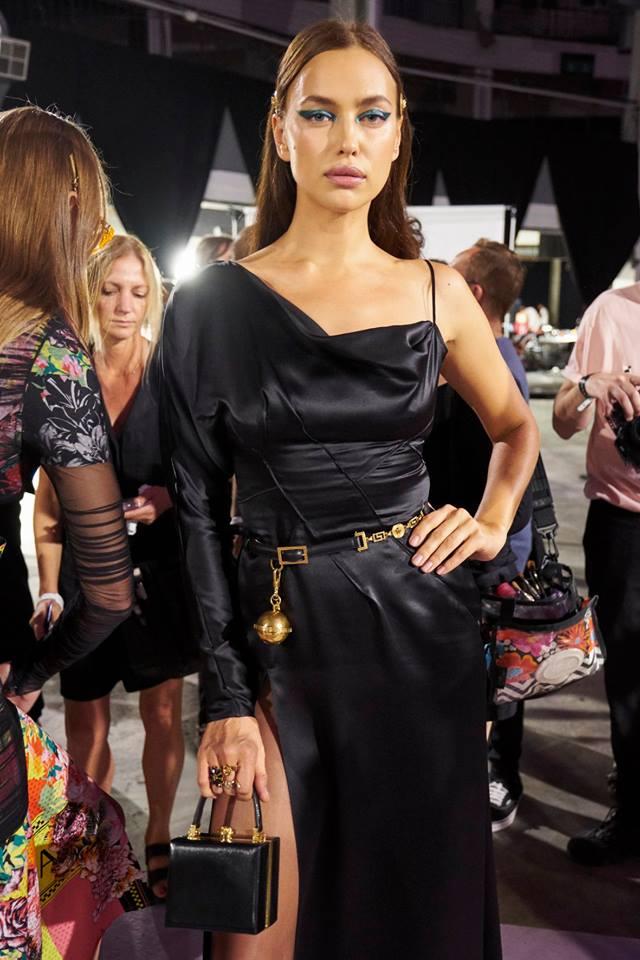 Borsa da sera nera Versace