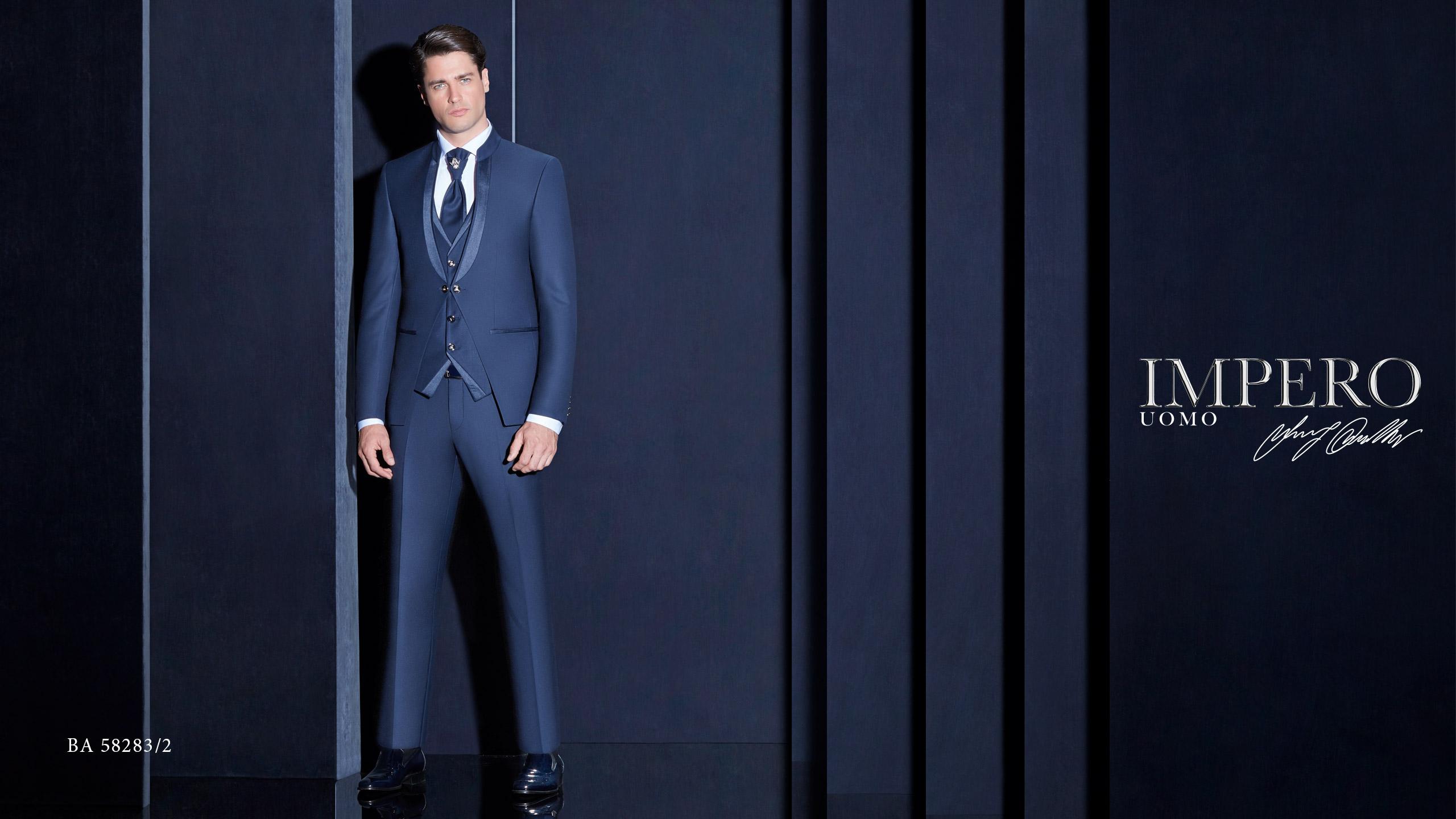 Abito elegante da uomo Impero Couture blu