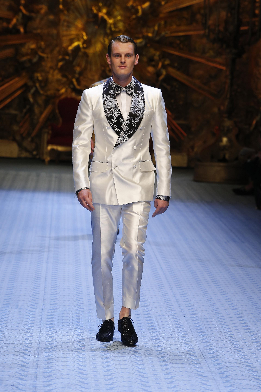 Abito uomo elegante bianco e nero Dolce & Gabbana