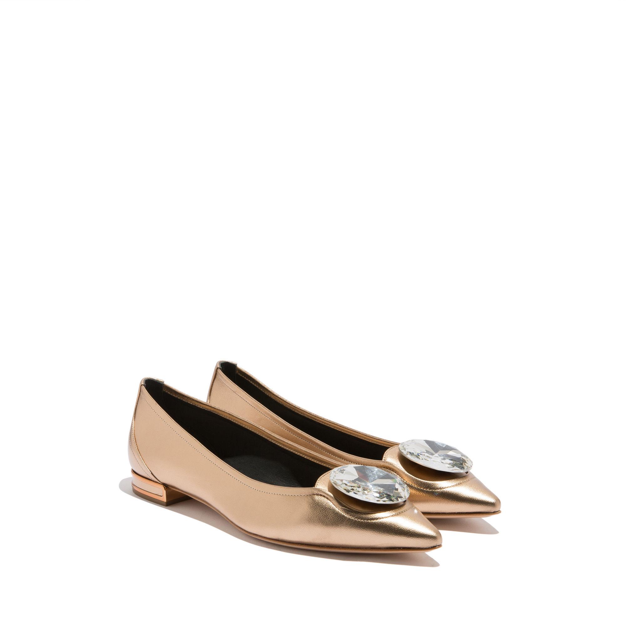 Ballerine gioiello oro Casadei