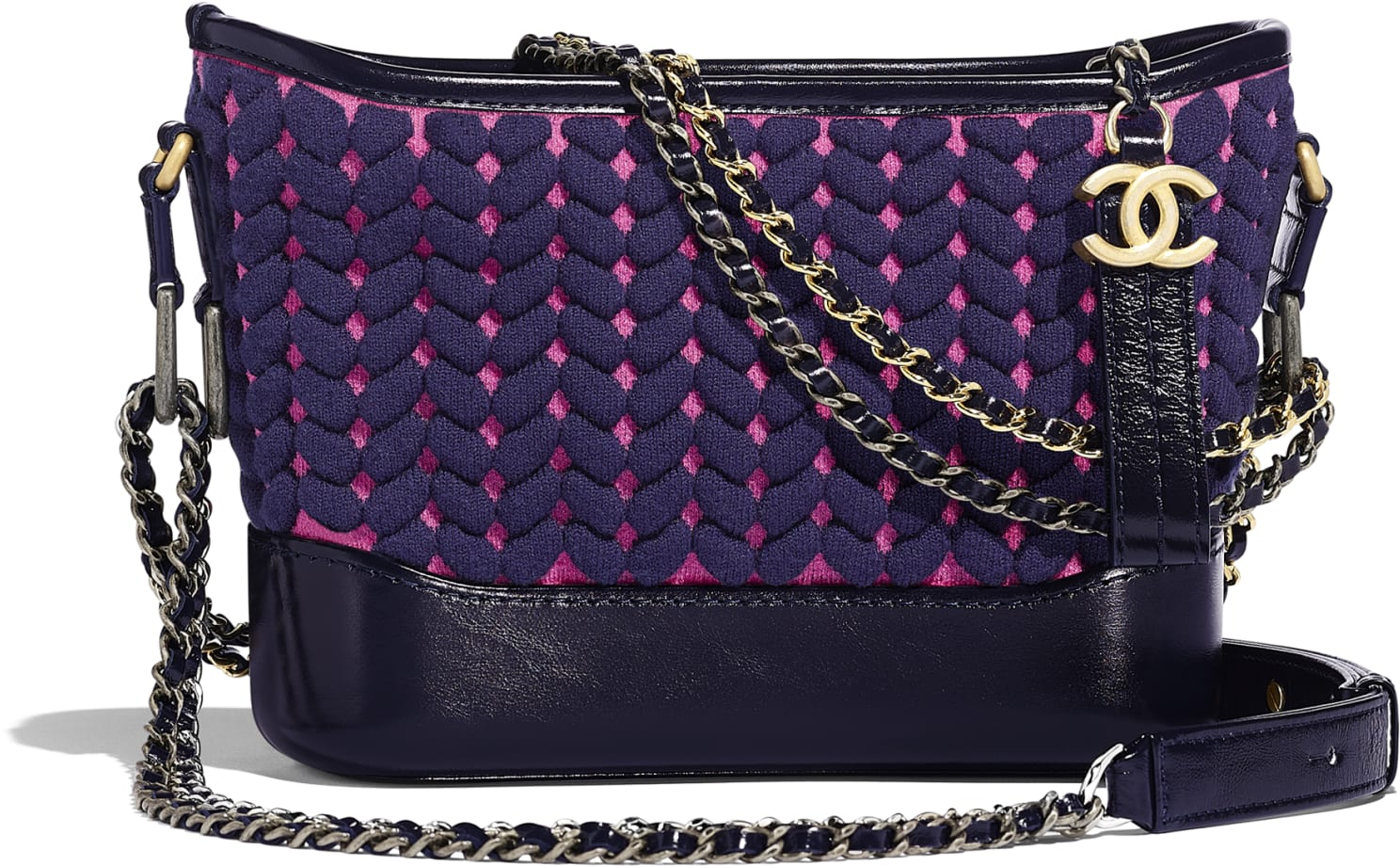 Borsa a spalla Gabrielle de Chanel in lana intrecciata