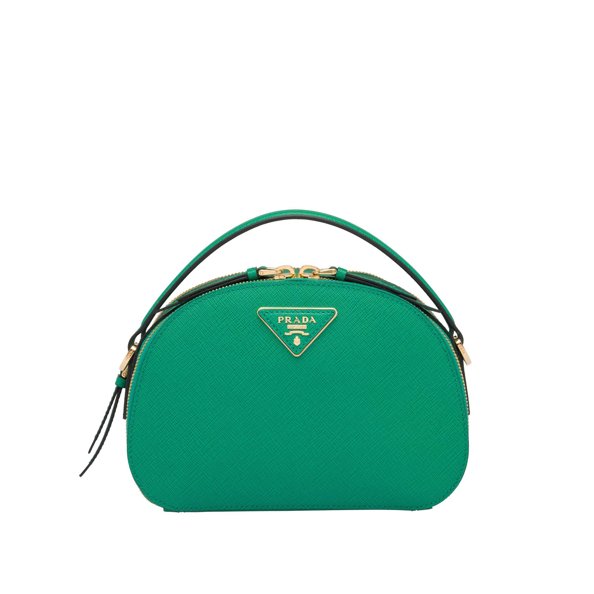 Borsa a tracolla Prada verde smeraldo Odette a 1,500 euro