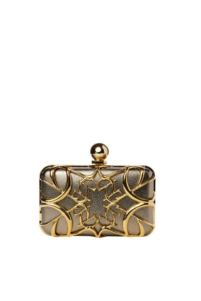 Borsa elegante da sera oro e argento Elie Saab