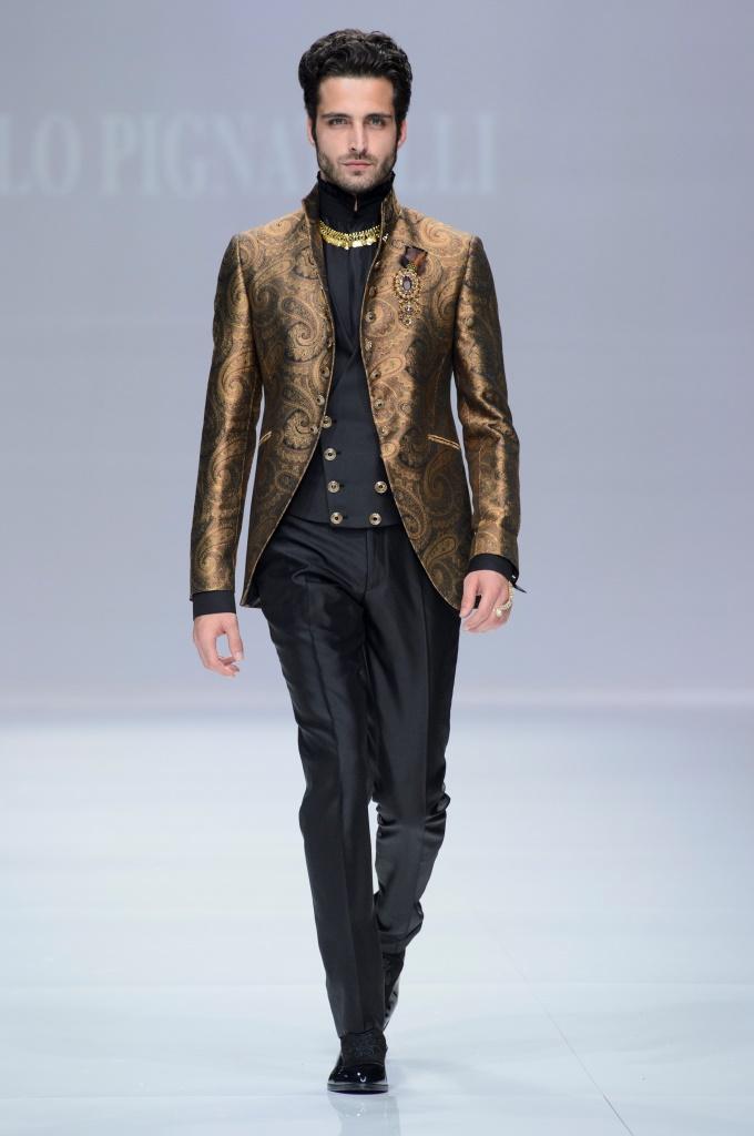 Abito con giacca color bronzo Carlo Pignatelli