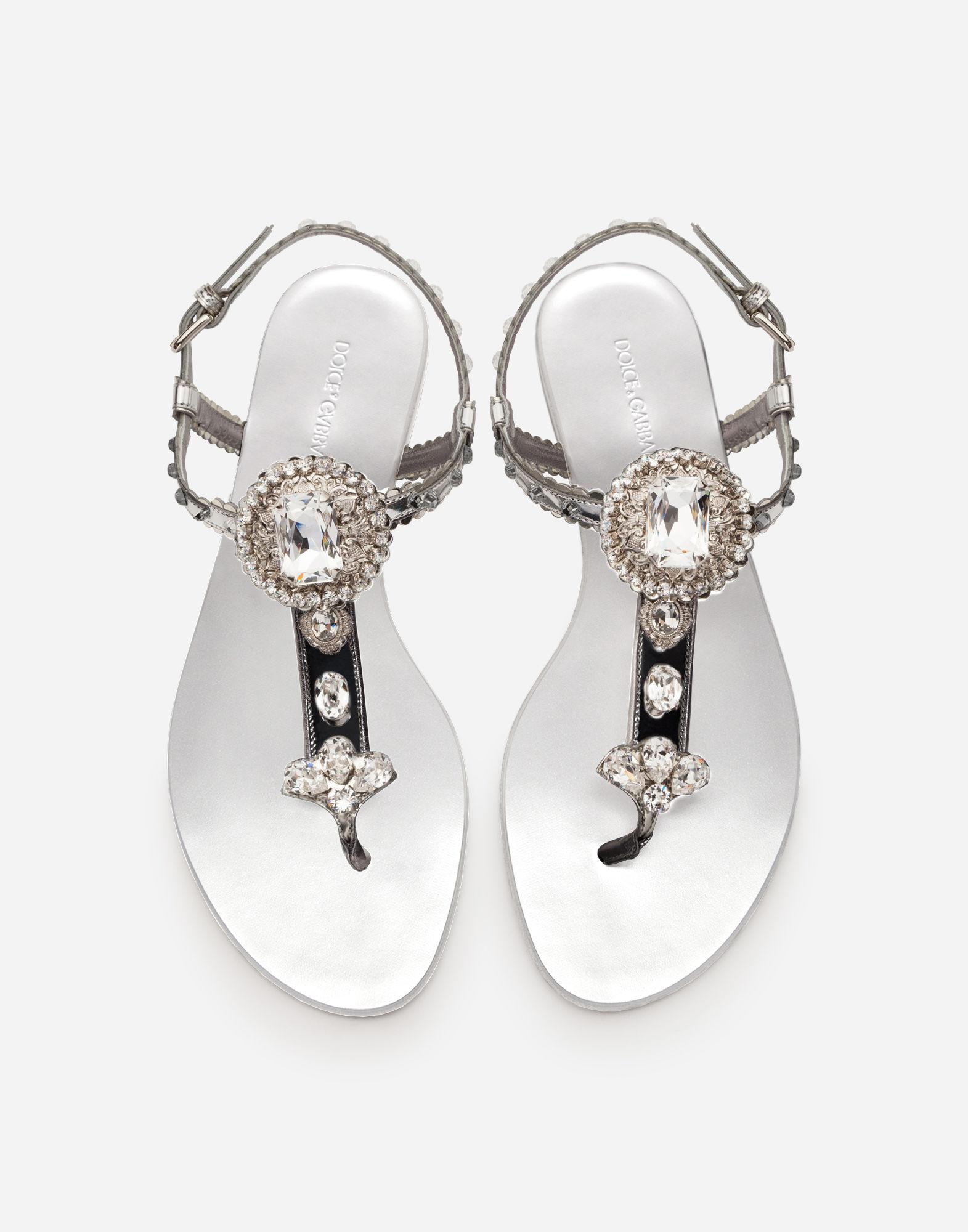 Infradito gioiello argento Dolce & Gabbana