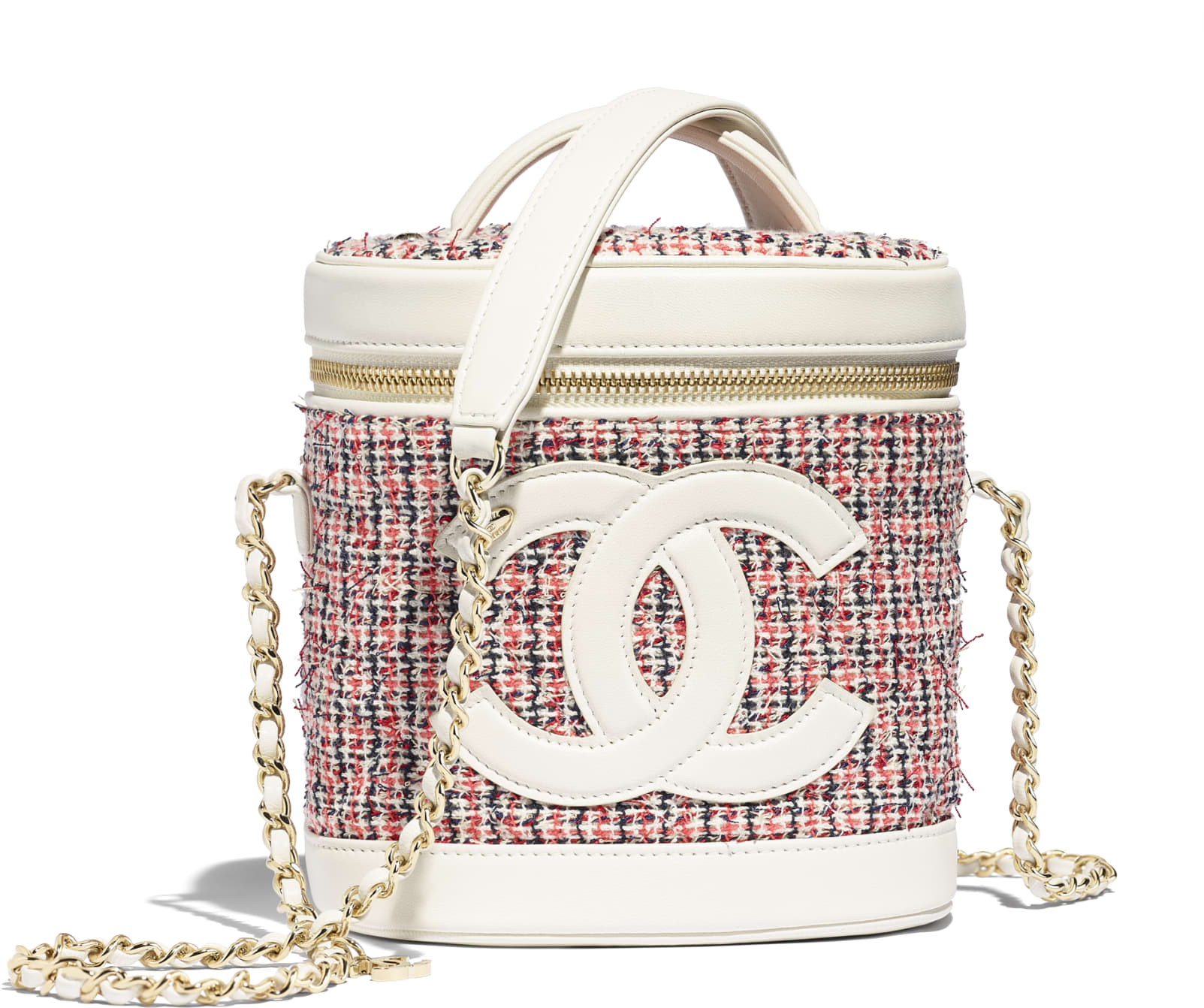 Mini borsa a tracolla in tweed Chanel