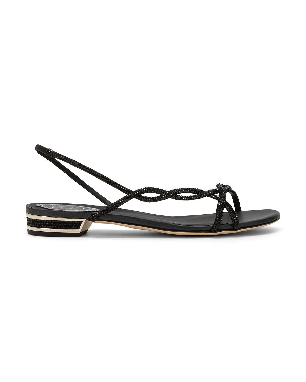Sandali da cerimonia bassi neri Renè Caovilla a 1015 euro