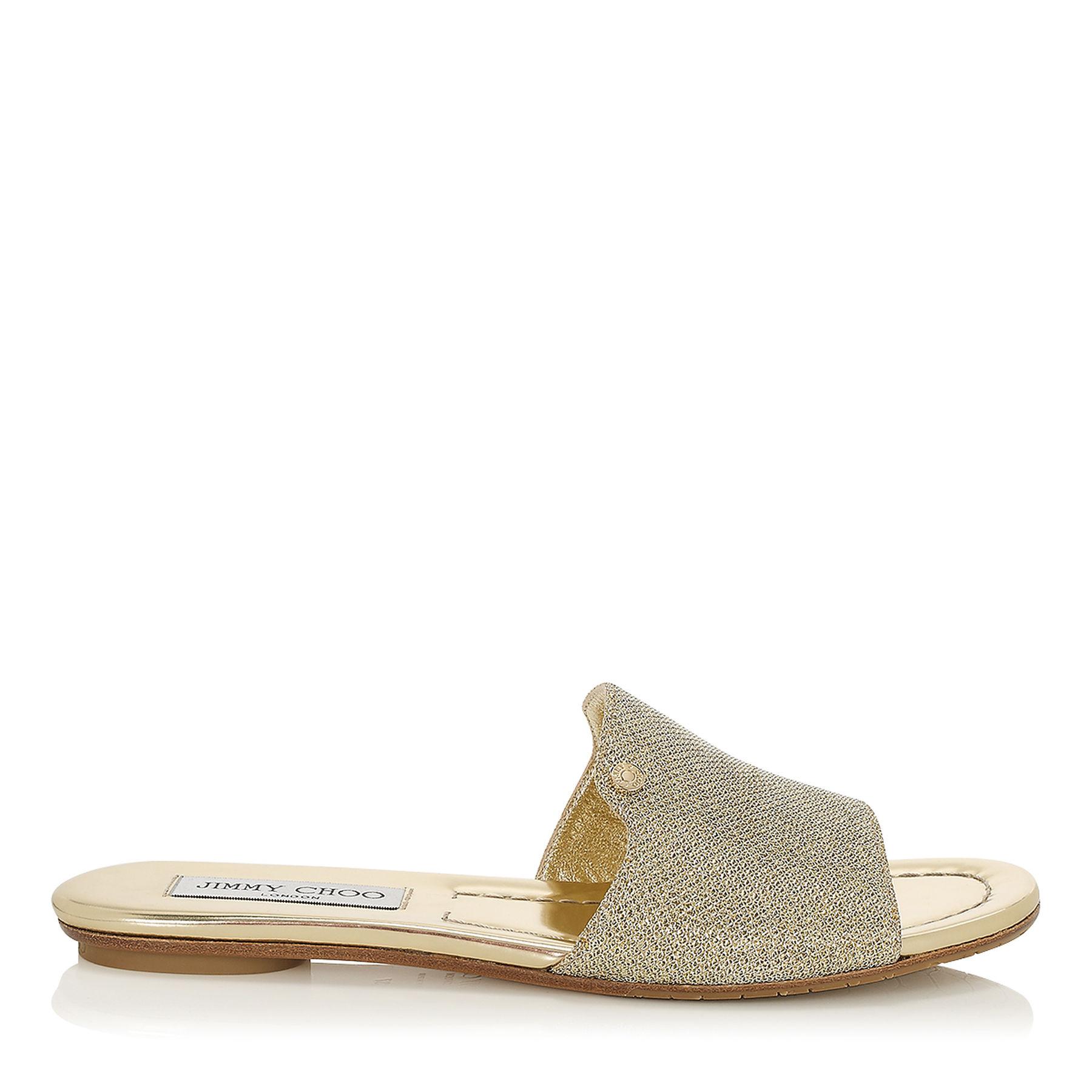 Sandali eleganti bassi oro Jimmy Choo