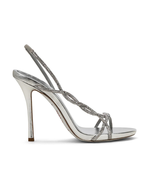 Sandali gioiello argento Renè Caovilla a 1015 euro