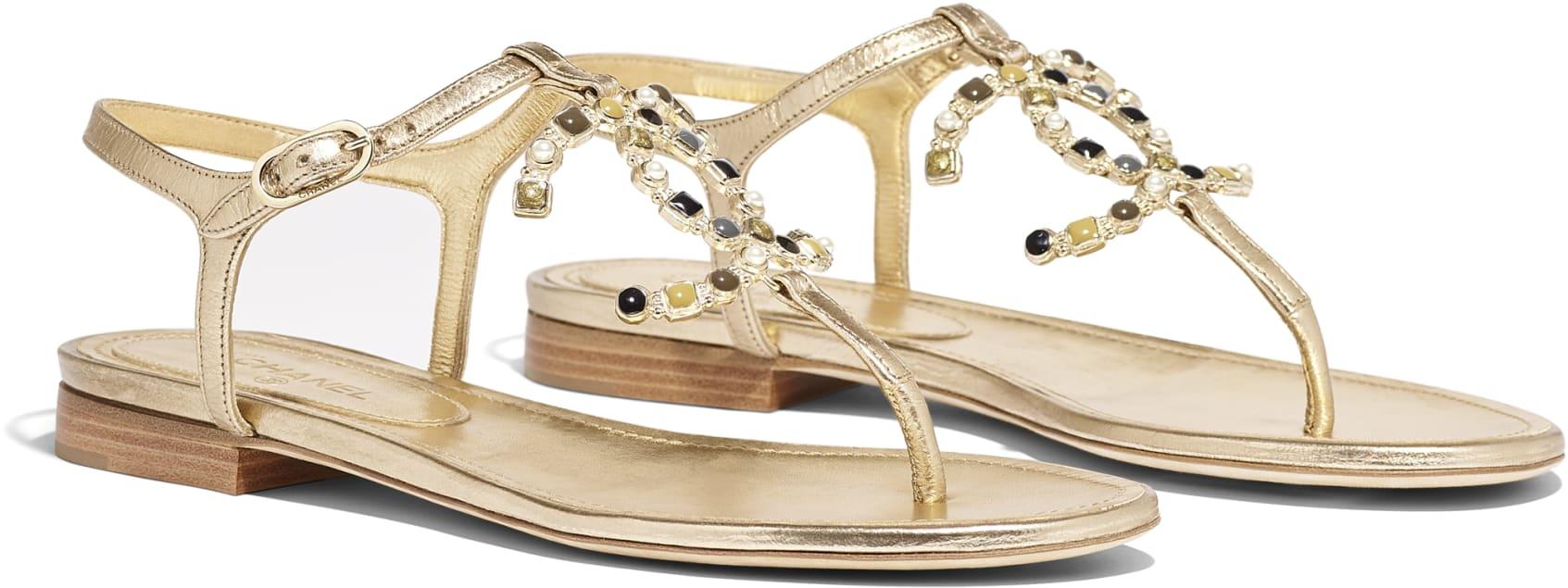 Sandali gioiello bassi Chanel