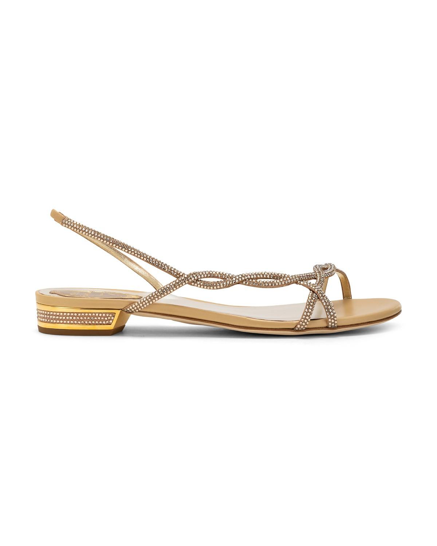 Sandali gioiello bassi oro a 1015 euro
